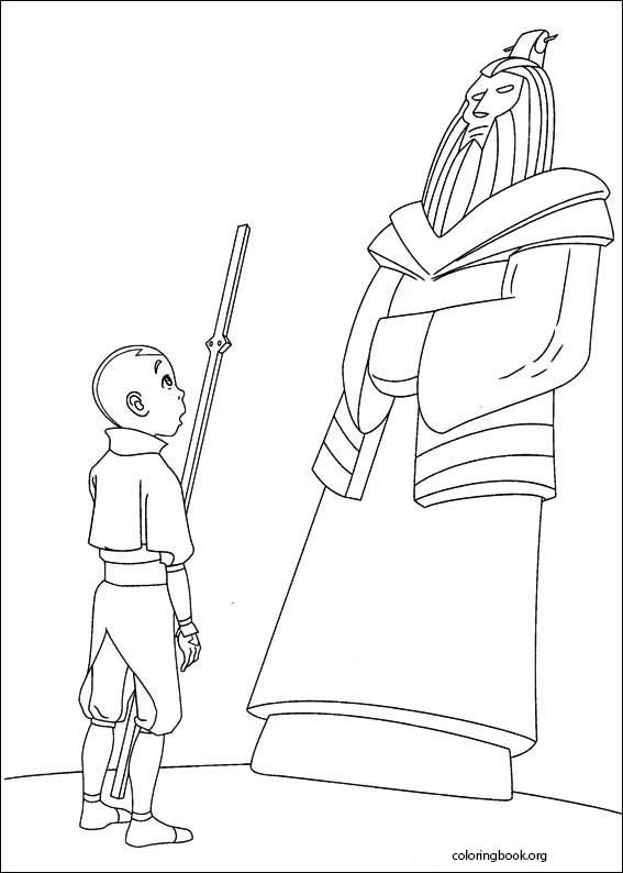 Avatar The Last Airbender coloring pages  ColoringBookorg