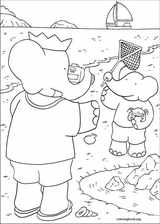 Babar coloring page (009)