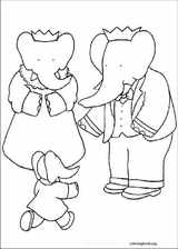 Babar coloring page (018)