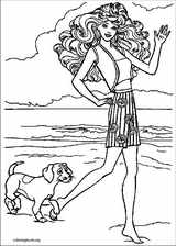 Barbie coloring page (054)