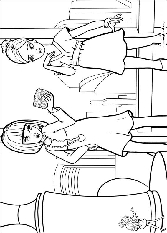 barbie presents thumbelina coloring page 016 coloringbookorg