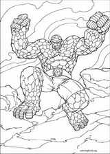 Fantastic Four coloring page (022)