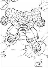 Fantastic Four coloring page (025)