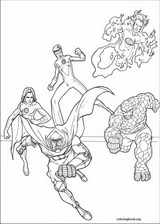 Fantastic Four coloring page (035)