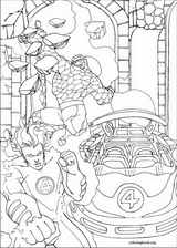 Fantastic Four coloring page (042)