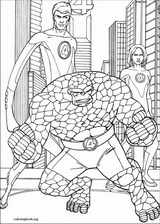 Fantastic Four coloring page (065)