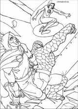 Fantastic Four coloring page (068)