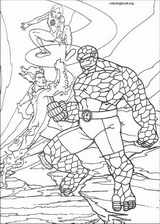 Fantastic Four coloring page (075)