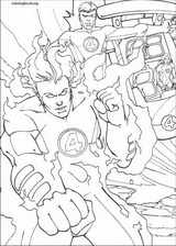 Fantastic Four coloring page (076)