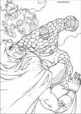 Fantastic Four coloring page (077)