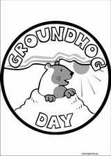 Groundhog Day coloring page (003)