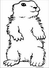 Groundhog Day coloring page (004)
