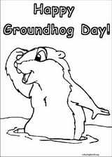 Groundhog Day coloring page (008)