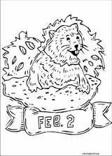 Groundhog Day coloring page (009)