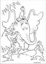 Horton coloring page (013)