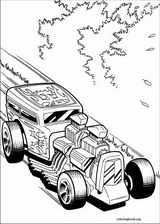 Hot Wheels coloring page (035)