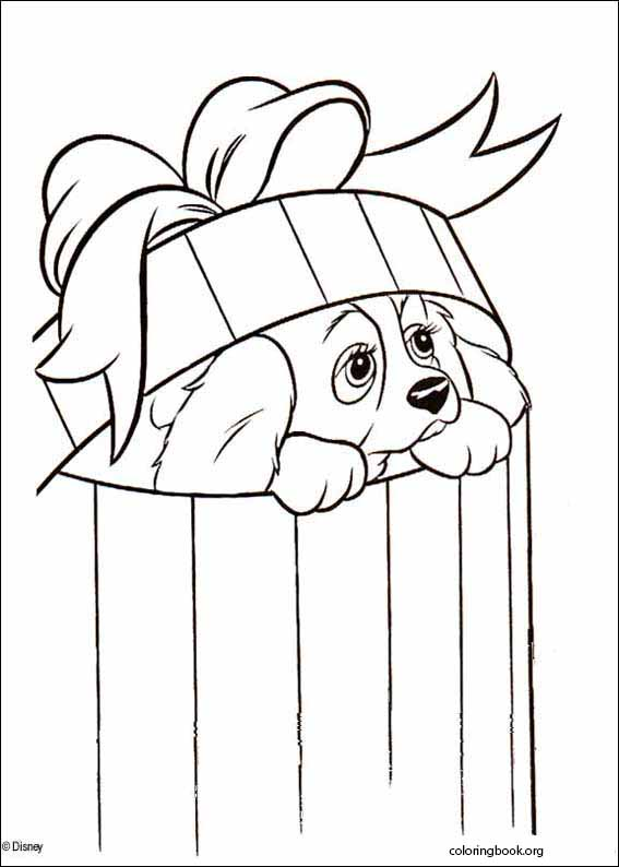 Lady And The Tramp Coloring Page 023 Coloringbook Org