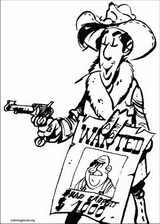 Lucky Luke coloring page (058)