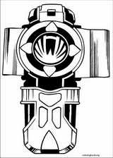 Power Rangers coloring page (092)
