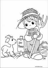 Precious Moments coloring page (037)