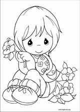 Precious Moments coloring page (072)