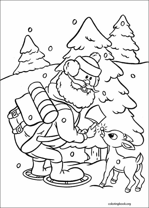 008 rudolph the red nosed reindeer coloring page 009