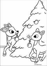 009 rudolph the red nosed reindeer coloring page 010