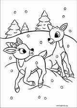 017 rudolph the red nosed reindeer coloring page 018