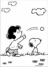 Snoopy coloring page (007)