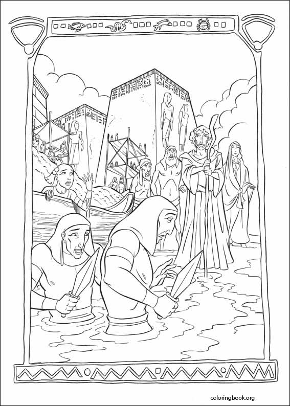 The Prince Of Egypt coloring pages  ColoringBookorg