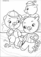 The Three Little Pigs coloring page (001)