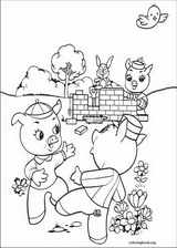 The Three Little Pigs coloring page (004)