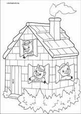 The Three Little Pigs coloring page (015)