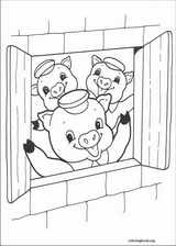 The Three Little Pigs coloring page (016)