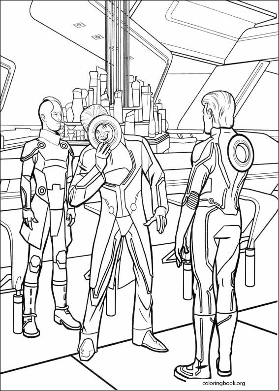 Tron Coloring Page 043