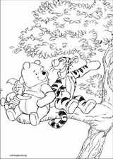 Winnie The Pooh coloring page (076)