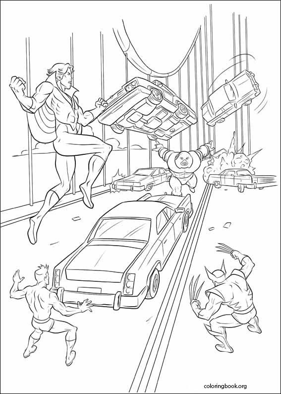 X-Men coloring page (009) @ ColoringBook.org