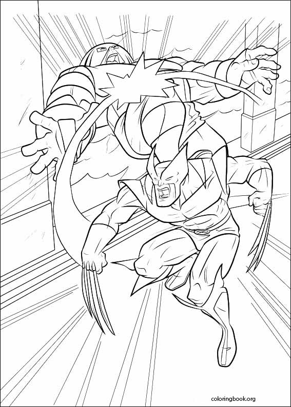 X-Men coloring page (016) @ ColoringBook.org