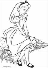 Alice In Wonderland coloring page (005)