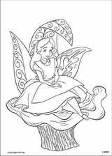 Alice In Wonderland coloring page (010)
