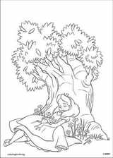 Alice In Wonderland coloring page (011)