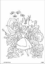 Alice In Wonderland coloring page (014)