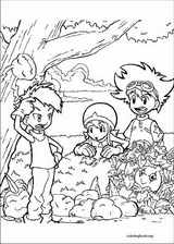 Digimon coloring page (007)