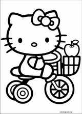 Hello Kitty coloring page (001)