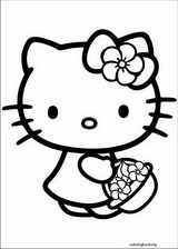 Hello Kitty coloring page (002)