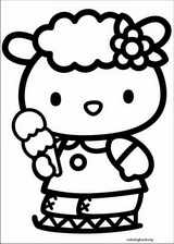 Hello Kitty coloring page (003)