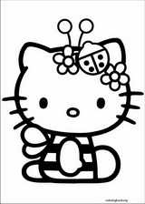 Hello Kitty coloring page (004)