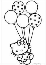 Hello Kitty coloring page (005)