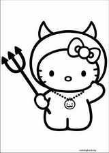 Hello Kitty coloring page (010)