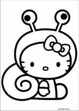 Hello Kitty coloring page (011)